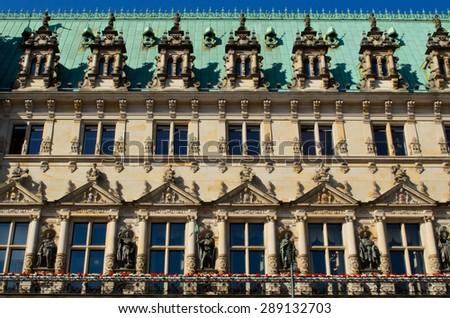 Rathaus Hamburg, Germany - stock photo