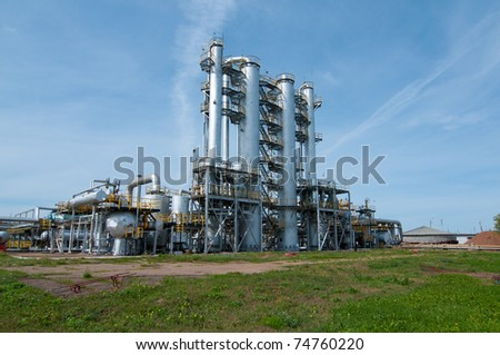 Ratification column. gas and oil industry - stock photo