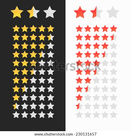 Rating stars isolated.  illustration for your design - stock photo