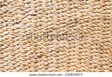 Rattan weave background spiral. - stock photo