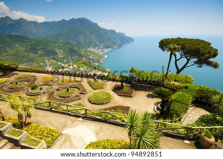 Ravello, Amalfi Coast, Italy. Villa Rufolo - stock photo