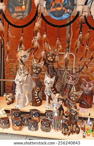 RAVENNA, ITALY  SEPTEMBER 21, 2014: cat display great tourists attraction. The city defined by UNESCO heritage of humanity has 3 million tourists per year. - stock photo