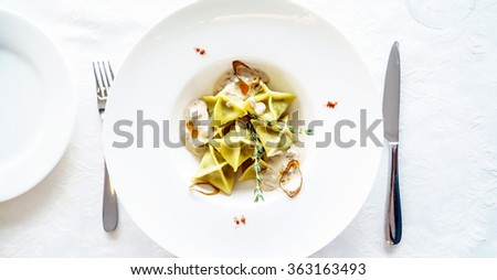 ravioli - stock photo