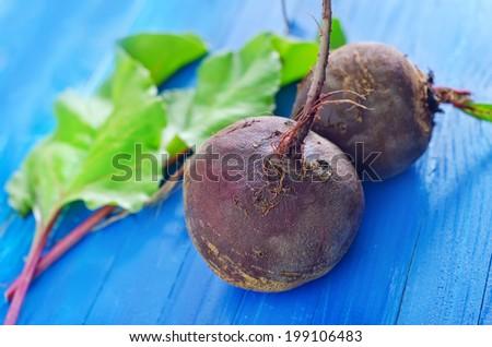raw beet - stock photo