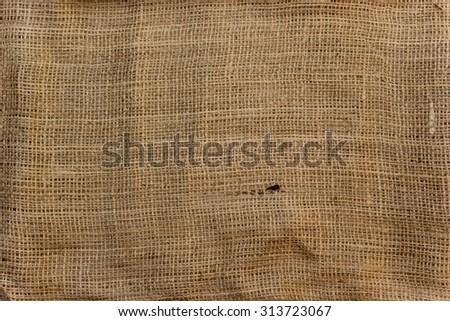 raw beige jute natural organic fiber background texture - stock photo