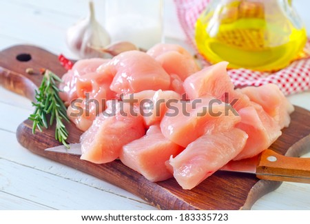 raw chicken - stock photo