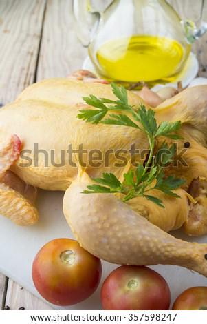 raw chicken - stock photo