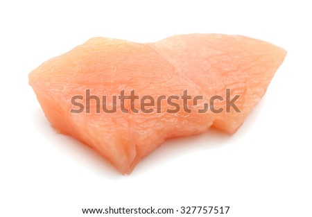 raw chicken fillet on a white background  - stock photo