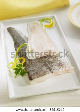 Raw cod fillets - stock photo