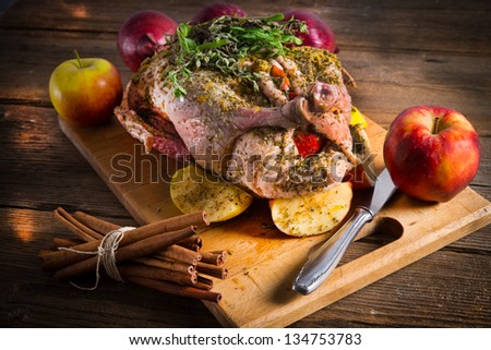 raw  duck - stock photo