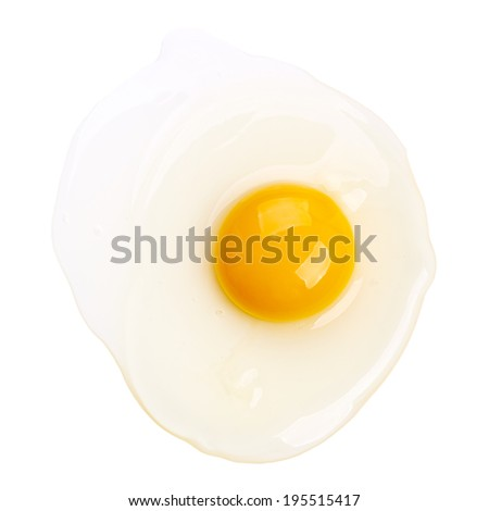 Raw egg isolated on white background - stock photo