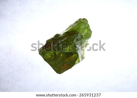 Raw gemstone of Thailand gem mines represent the raw stone gem and jewelry concept related idea.Super macro shot and intention focus at the surface center of gem. - stock photo