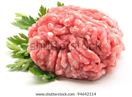 Raw ground beef for burgers - stock photo
