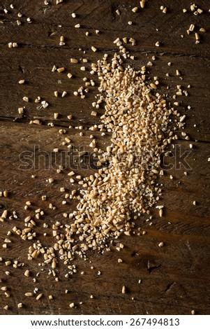 Raw Organic Steel Cut Oats in a Bowl - stock photo