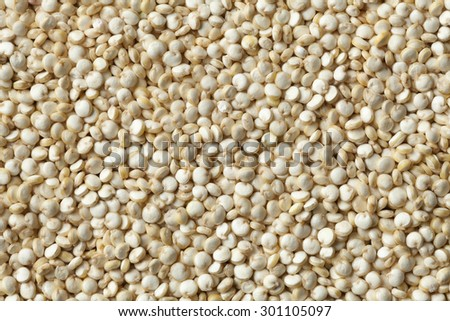Raw Quinoa seeds full frame close up - stock photo