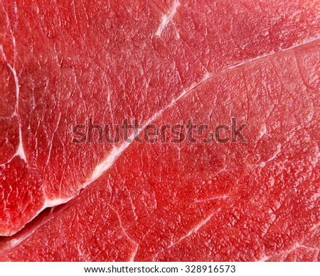 Raw red beef meat macro texture or background - stock photo
