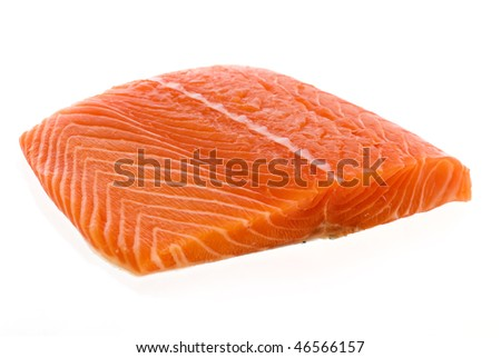 Raw Salmon Fillet - stock photo