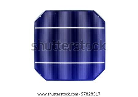 Raw solar cell on white background - stock photo