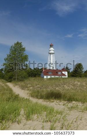 Rawley Point Lighthouse - stock photo