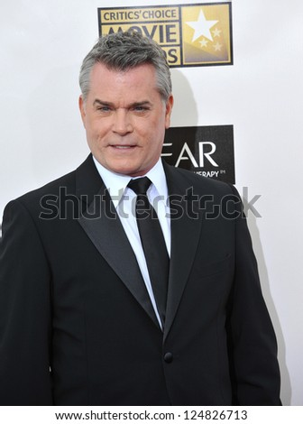 Ray Liotta at the 18th Annual Critics' Choice Movie Awards at Barker Hanger, Santa Monica Airport. January 10, 2013  Santa Monica, CA Picture: Paul Smith - stock photo