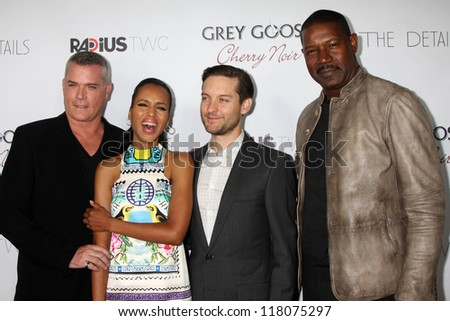"""Ray Liotta, Kerri Washington, Tobey Maguire, Dennis Haysbert at """"The Details"""" Los Angeles Premiere, Arclight, Hollywood, CA 10-29-12 - stock photo"""