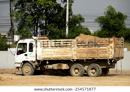 RAYONG-THAILAND-DECEMBER 25 : The Truck on the way on December 25, 2014 Rayong Province, Thailand. - stock photo