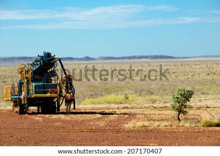 RC Drill for Exploration - Pilbara - Australia - stock photo