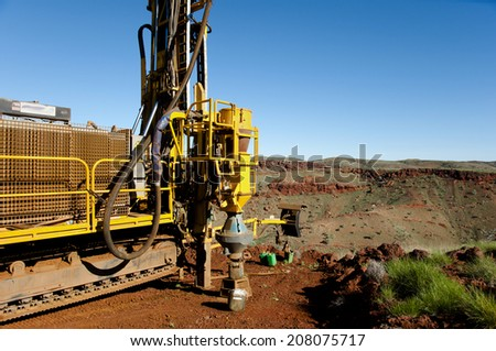 RC Exploration Drilling  - stock photo