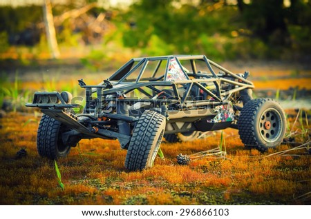 RC model buggy - stock photo