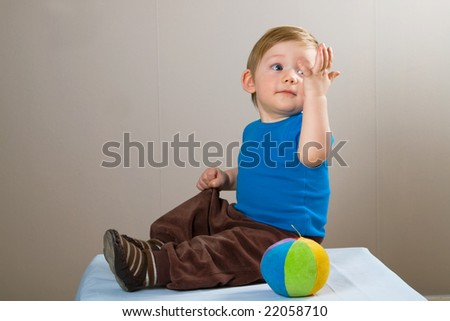 reach the hand - stock photo