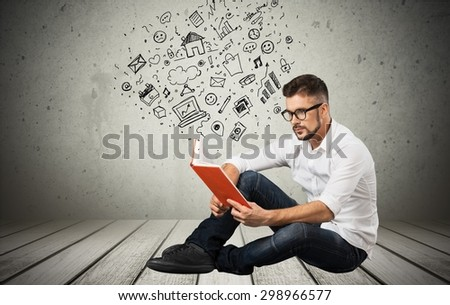 Read, book, hold. - stock photo