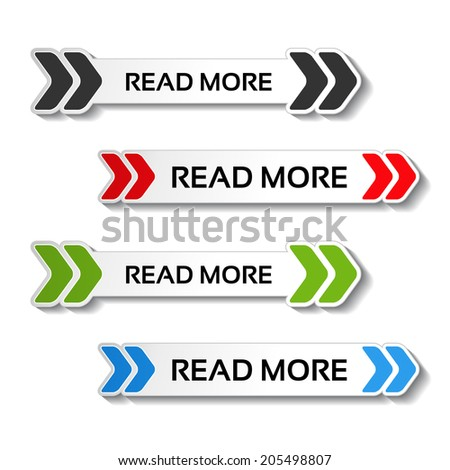 read more buttons with arrows - stock photo