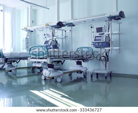 Readiness of ward to receive patients - stock photo