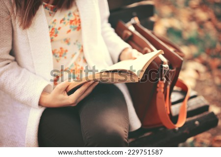 Reading a book concept - stock photo