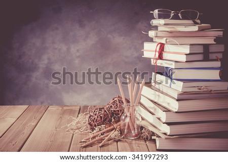 Reading book - stock photo