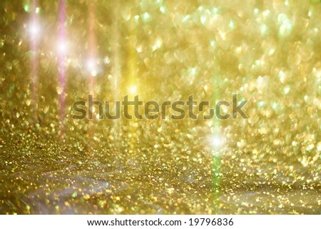 ready design with star light and golden glitter sparkles background - stock photo