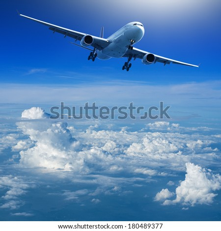 Ready for landing - stock photo