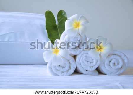 Ready for relaxation spa treatment in luxury hotel. - stock photo
