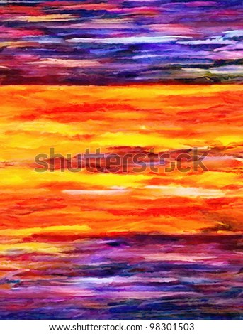 real abstract color oil paint as background - stock photo