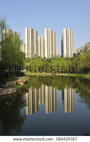 real estate,apartments,buildings - stock photo