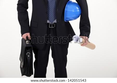 Real estate businessman - stock photo