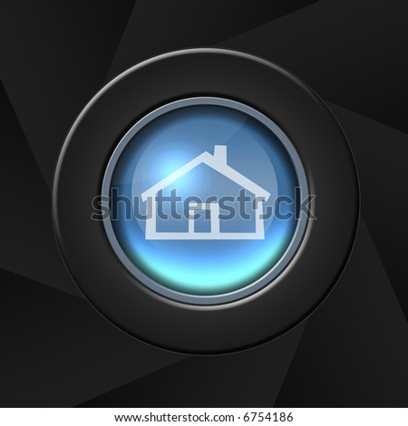 Real estate button - home icon - stock photo