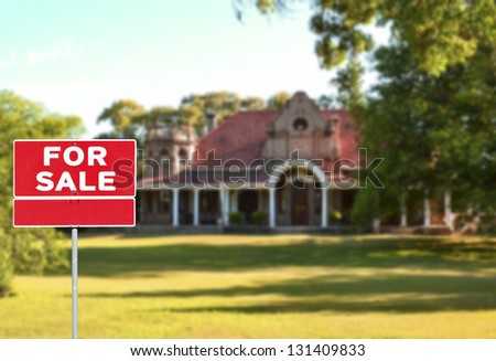 Real estate concept - Sell property - stock photo