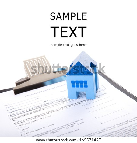 Real estate contract - stock photo