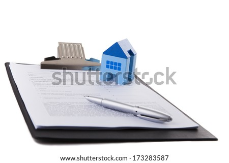 Real estate contract document - stock photo
