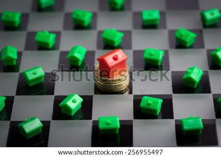 Real estate , house & property market - stock photo