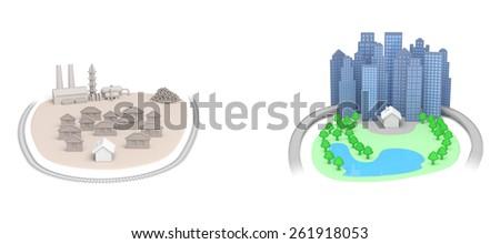 Real estate housing concept