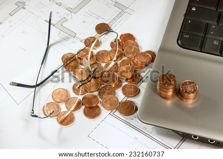 real estate investing evaluation - stock photo