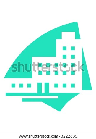 Real estate logo - stock photo