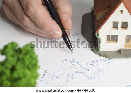 Real estate on paper - stock photo